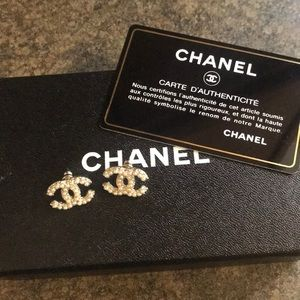 Brand new never worn authentic Chanel earrings